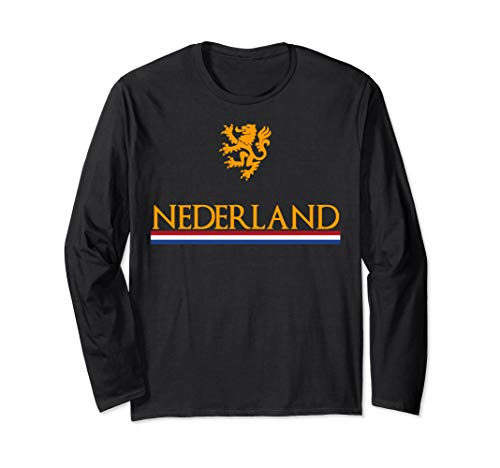 Nederland Soccer Jersey Shirt Oranje Netherlands Dutch Lion Long Sleeve T-Shirt