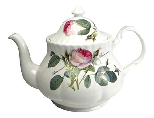 Roy Kirkham Redoute Rose Grande 6 Cup Teapot Fine Bone China England