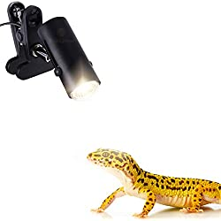 SunGrow 110 Volt Heat Light Fixture for Reptiles, 360° Rotating Lamp Head, Securely Clamps or Hangs in Your Tank, Supports Both E26/E27 Socket, Bulb Not Included