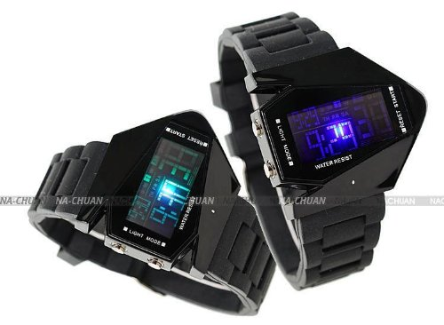 Amazon.com: AMPM24 Mens Sport Multicolor Blue LED Backlight Digital Date Alarm Black Rubber Watch LED034: Watches