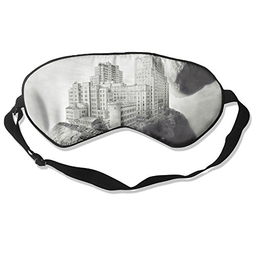 WUGOU Sleep Eye Mask Inhabited Asteroid Lightweight Soft Blindfold Adjustable Head Strap Eyeshade Travel Eyepatch -