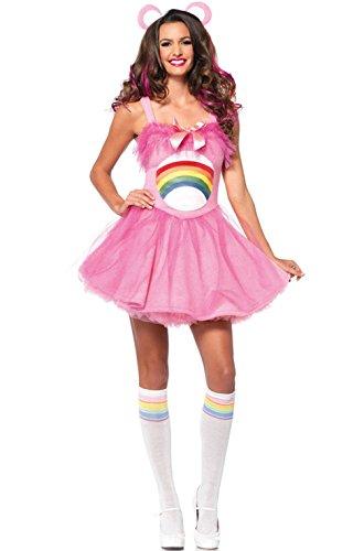 Mememall Fashion Sexy Womens Adult Cheer Bear Dress Costume (Adult Cheer Bear Dress)