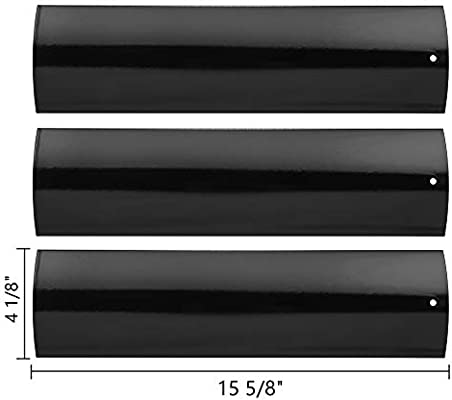 SHINESTAR Gas Grill Replacement Parts for Master Forge SH3118B, P3018,  Kenmore, 3-Pack 15 5/8 inch Porcelain Steel Heat Tent Shield Plate BBQ  Flame