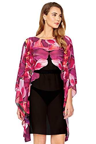 Gottex Women's Sangria Multi Tunic Swim Cover Up Black/Pink M