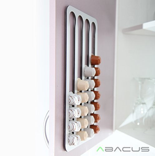 Abacus Pod Rack a Nespresso Coffee Capsule Holder and Dispenser Storage Solution (36 Pod Rack) (Rack Dispenser Cover)