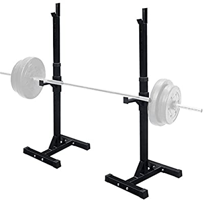 F2C Pair of Adjustable Sturdy Steel Squat Rack Barbell Free Bench Press Stand GYM/Home Gym Portable Dumbbell Racks Stand