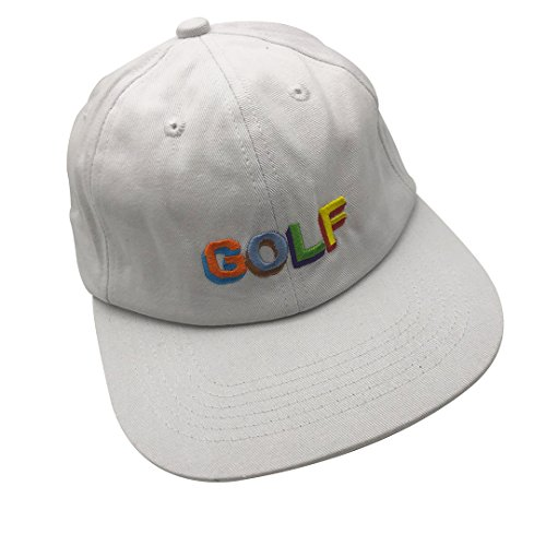 df4b36e395d795 sanzihua Golf Hip Hop Hat Baseball Cap Embroidered Adjustable Snapback  Strapback White