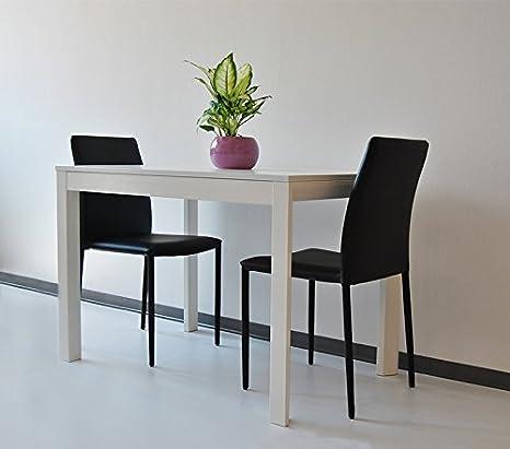 Tavolo allungabile in legno 110>160x70 H77 cm Giove Bianco, Tavolo ...