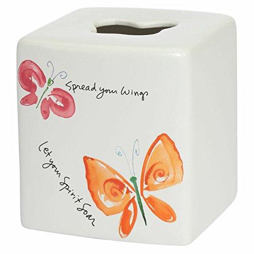 Kathy Davis Flutterby Boutique Tissue Holder, Ceramic