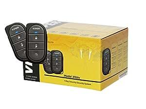 VIPER 3106V 3-CHANNEL 1-WAY CAR ALARM VEHICLE SECURITY KEYLESS ENTRY SYSTEM 2 REMOTES SHOCK SENSOR & SIREN