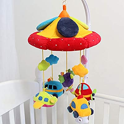 MAJINCGJ Newborn Baby Toy Music Bed Bell Newborn Baby Comfort Plush Bed Hanging Fabric Music Spinning Rattle 0-3-6-12 Months Baby Carriage Hanging : Baby