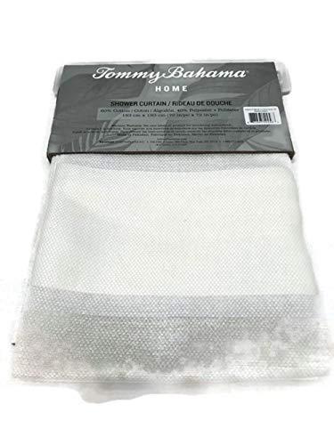 Tommy Bahama Dobby Stripe Fabric Shower Curtain Tan Cream