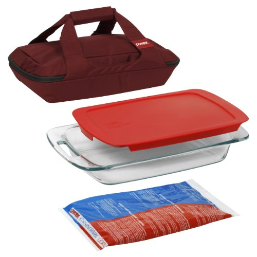 Rectangle Baking Dish - Pyrex Portables 4-Piece Glass Bakeware and Food Storage Set
