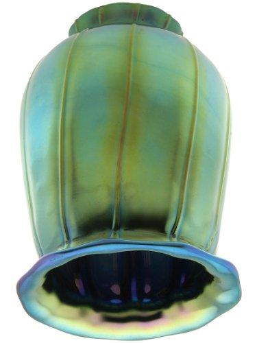 Iridescent Peacock Blue Art Glass