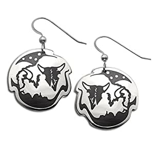 Sterling Silver Survivor Wildlife Earrings. Made in USA.