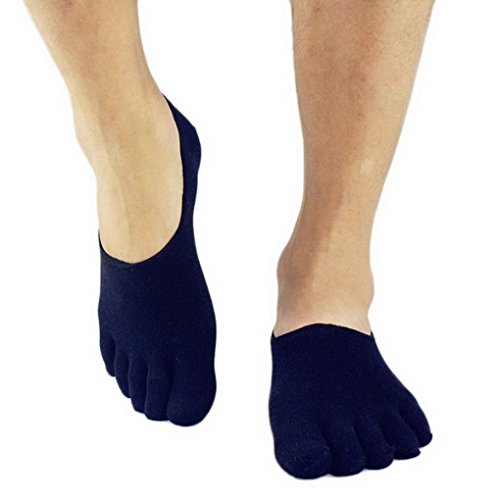 ACME Mens Low Cut No Show Basic Comfy Fashion Toe Socks N...
