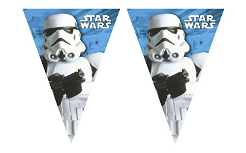 Disney Classic Star Wars Stormtrooper Party Pennant Flag Banner Bunting ()