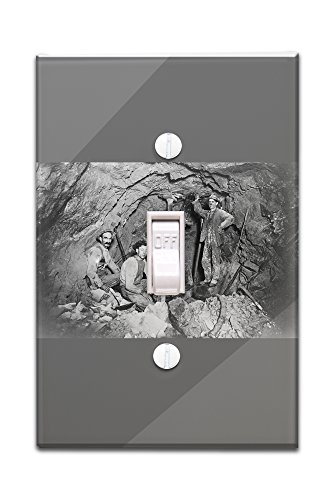 Coeur Dalene  Idaho   Chance Mine Lead Mining   Vintage Photograph  Light Switchplate Cover
