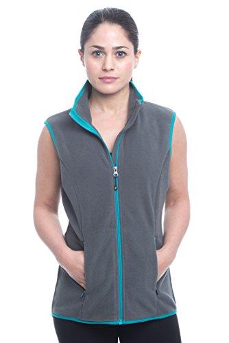 Peak Fleece Athletic Performance Cold Weather Outerwear Vest - Peak Dim Grey, X-Small (Performance Fleece Full Zip Vest)
