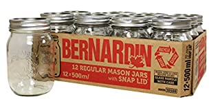 Bernardin Regular Mouth 500ml Mason Jars-Box of 12, 500ml, Clear (B00593JWSO) | Amazon price tracker / tracking, Amazon price history charts, Amazon price watches, Amazon price drop alerts