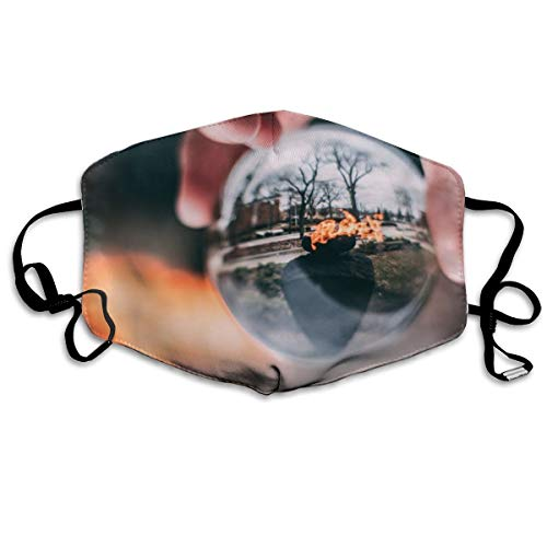 Pbedsw Glass Sphere in Hand Washable Reusable Safety Breathable Mask, 4.3