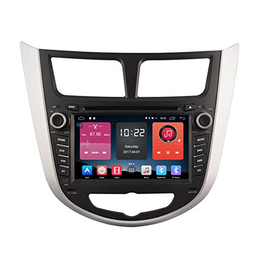 Autosion In Dash Android 6.0 Car DVD Player Sat Nav Radio Head Unit GPS Navigation Stereo for Hyundai H1 2016 2017 Grand Starex Royale i800 iLand iMax Support Bluetooth SD USB Radio OBD WIFI DVR 1080P by Autosion