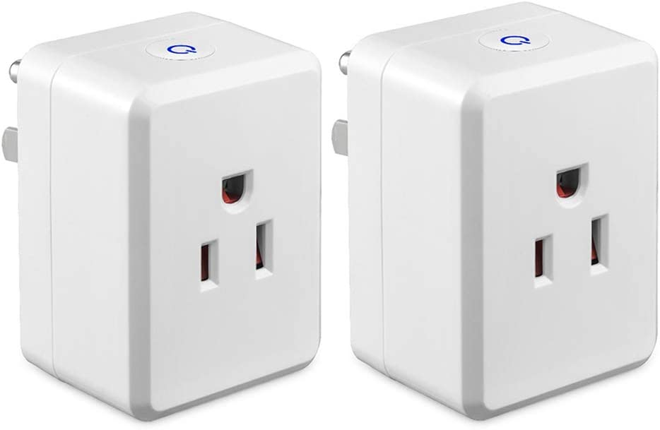 InteHome USB Smart Plug, WiFi Smart Outlet Compatible with Google Home IFTTT, Alexa Echo Smart Socket, Remote Control Your Devices from Any Places, No Requiring Hub (2 Pack)