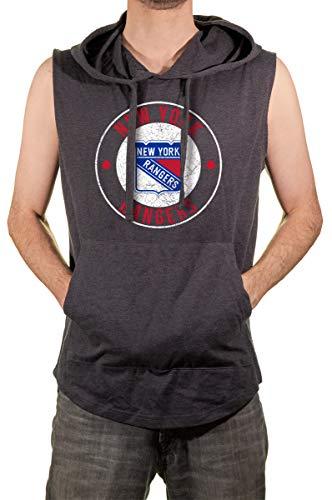 Calhoun Official NHL Men's Sleeveless Hoodie (NY Rangers, X-Large) (Clothing Mens Nhl Shop)