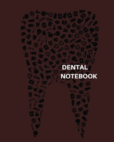 Dental Notebook: Dot Grid matrix Journal for medical staff and students| 150 pages with an anatomy cover finish A4 size Sketch/ note/anatomy coloring book. (AnatomyPress)