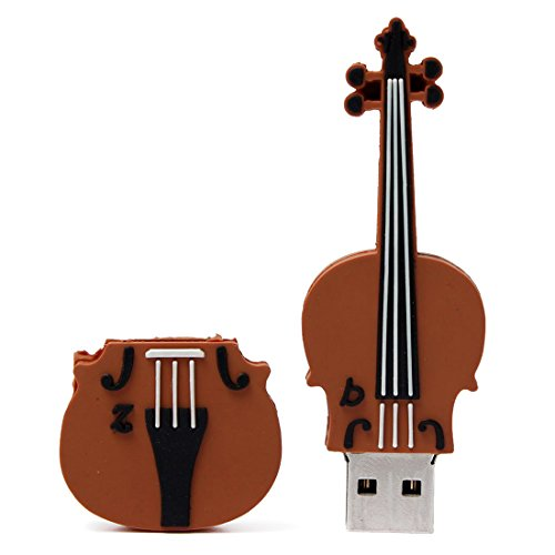 SODIAL 16 GB USB 2.0 Key Model Cartoon Violin Flash Drive Me