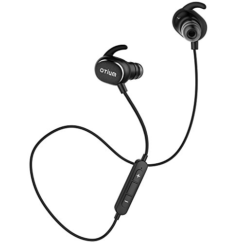 Price comparison product image Bluetooth Headphones,  Otium Sports Wireless Headphones Bluetooth V4.1 Lightweight In-Ear Earbuds Stereo Noise Cancelling Sweatproof Headset with APT-X / Mic