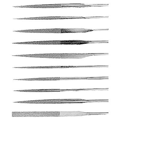 - HHIP 3000-0062 10 Piece Diamond Needle File Set, Medium Coarse, 5 1/2