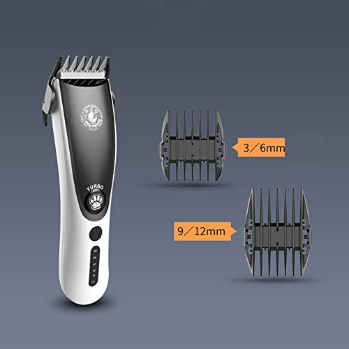 🥇 zxy cortapelos para Mascotas Recargable eléctrico Pet Clipper Kit inalámbrico de Pelo para Mascotas Trimmer Kit de bajo Ruido Cat Hair Shaver