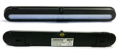 JEBSENS - T01B NEW 14 LED Super Bright Battery Operated PIR Motion Activated LED Under Cabinet Light, Night Light, Closet Light, Motion Sensing Automatic Light Up, with On, Off, Auto Function - BLACK