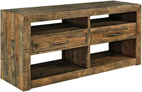 Signature Design by Ashley – Sommerford Dining Room Server – Rustic Style – Brown