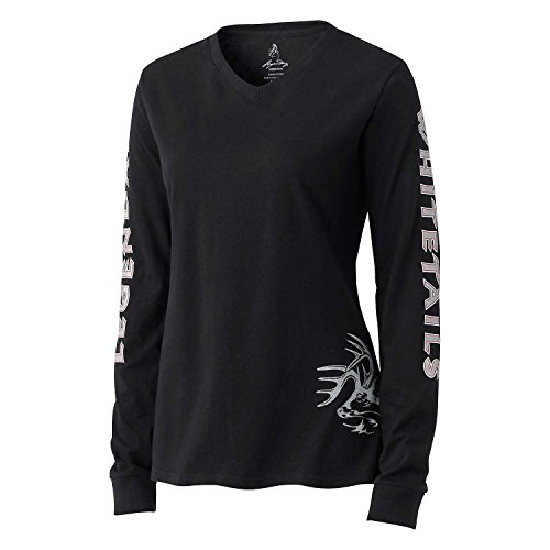 Legendary Whitetails Women's Cotton Non-Typical Long Sleeve T-Shirt Black Medium