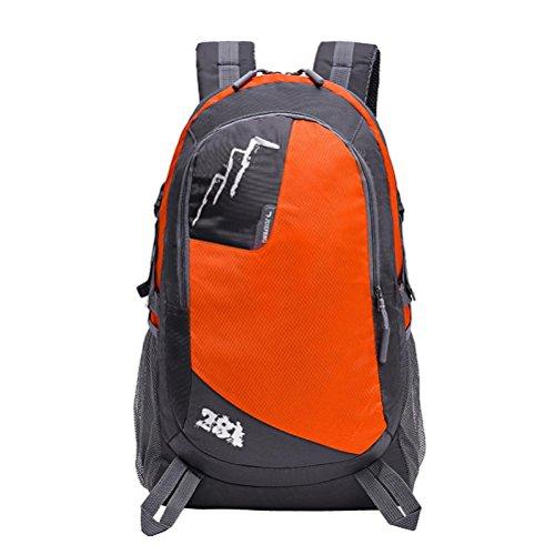 "Fulltime (TM) al aire libre mochila senderismo bolsa Camping juego impermeable de viaje montañismo paquete bolsa, hombre mujer Infantil, hot pink, 51cm x 30cm x 20cm; (inch):20.1"" x 12'' x 7.8'' naranja"
