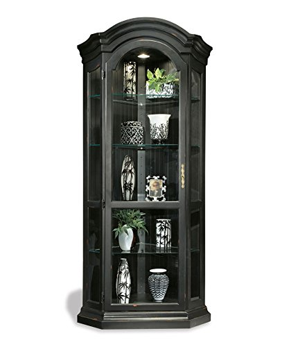 Philip Reinisch Color Time Panorama Corner Display Cabinet, Pirate Black