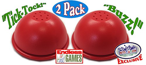 Endless Games Exclusive Electronic Red 3 Mode Game Answer Buzzer and Count Down Timer Gift Set Bundle - 2 - Game Show Buzzer