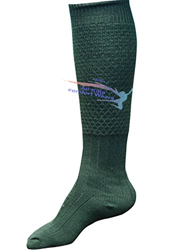 (Mens New Bubling Scottish Highland Wear Long 65% Wool Kilt Hose Socks (XL (12 To 14), Dull)
