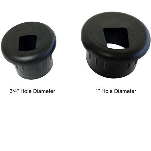 1'' Phone and Fax Plastic Grommet - Color: Black - 100 Pieces by Electriduct