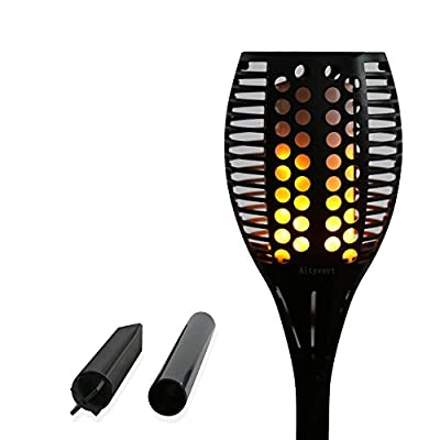Aityvert Solar Light Flickering Flames Torches Lights 96 LED Outdoor Waterproof Landspace Decoration Lighting Dusk to Dawn Auto On/Off Security Torch Light for Garden,Deck,Yard,Patio,Driveway