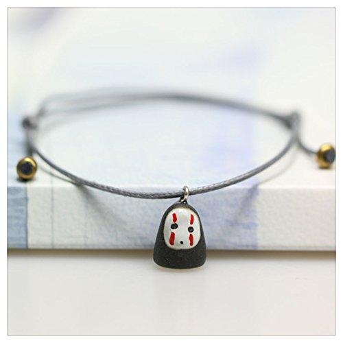 Happiness Jewelry Handmade Fashion Charm Adjustable Ceramic Cartoon Character Design Porcelain Bracelet (Slender