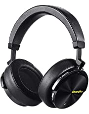 Bluedio T5 Auriculares Bluetooth inalámbricos de Cancelación de Ruido Activa, Auriculares estéreo portátiles, con micrófono para teléfonos y música (Amarillo)