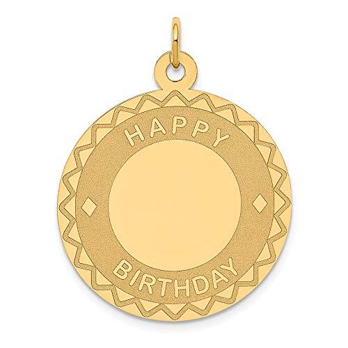 14K Yellow Gold Happy Birthday Charm