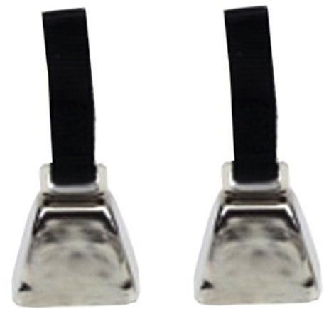 (2 Pack) Coastal Pet - Small Nickel Cow Bell With Nylon Strap - Perfect For Dog Training