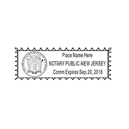 New Jersey Self Inking NOTARY RUBBER STAMP WITH SEAL Rectangular