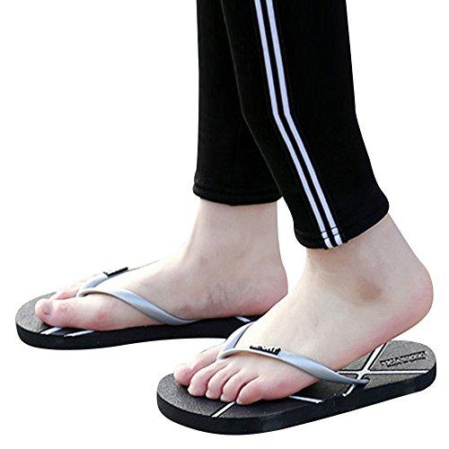 del Flops Unisex Verano De Ocio Gris Sandalias Flip Mujeres ALIKEEY Hombres Zapatos Zapatillas qaTwxtw4