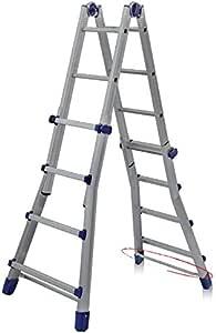 FACAL Briko Blu Escalera telescópica Aluminio, Azul - Escalera de mano (51,2 cm, 150 kg, 14 kg, 62 mm, 15,2 cm, 14,8 cm): Amazon.es: Bricolaje y herramientas