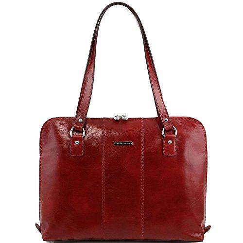 TUSCANY LEATHER, Borsa a spalla donna rosso rosso Taille Unique